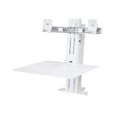 Ergotron WorkFit-SR Dual Monitor Sit-Stand Desktop Workstation Standing Desk - stand - for 2 LCD displays / keyboard / mouse )