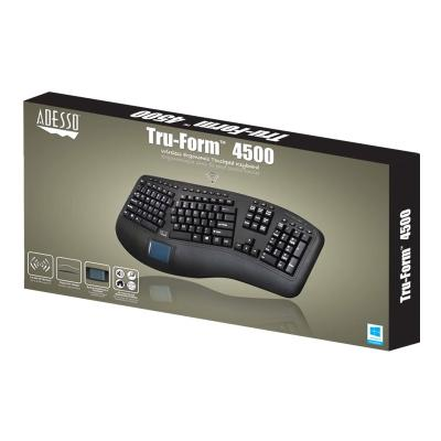 Adesso Tru-Form 4500 - keyboard - with touchpad - US - black