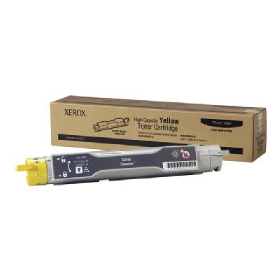 Xerox High-Capacity Phaser 6300/6350 - High Capacity - yellow - original - toner cartridge to 10000 pages - Phaser 6350  5% coverage