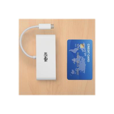 Tripp Lite 4-Port USB 3.1 USB-C to USB-A Hub w/ USB-C Charging Port 5 Gbps - hub - 4 ports  PERP