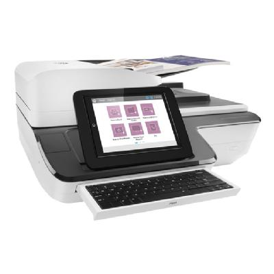 HP ScanJet Enterprise Flow N9120 fn2 Flatbed Scanner - document scanner - desktop - USB 2.0, Gigabit LAN, USB 2.0 (Host) (English, French, Spanish / Canada, Mexico, United States, Latin America (excluding Argentina, Brazil, Chile)) Scanner US CA MX LA (no AR CL BR)-EN ES FR