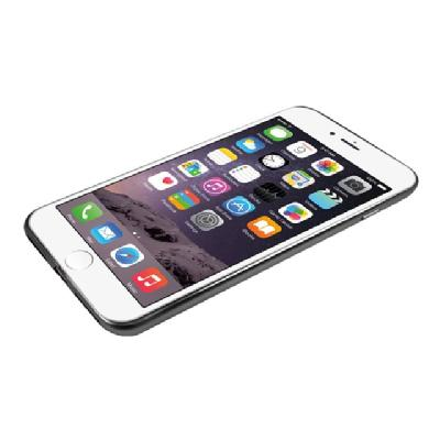 Macally Ultra Thin Soft back cover for cell phone arent Back and Matte Black Col or Trim for iPhone7