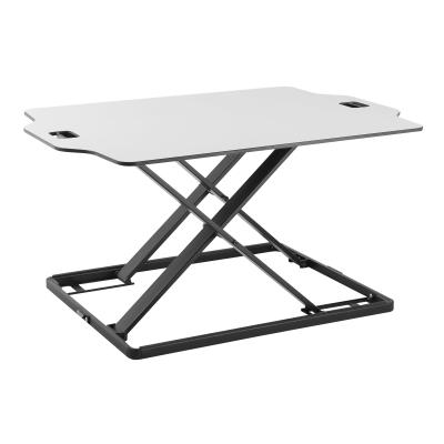 Amer EZUP - standing desk converter - rectangular - white justable Sit/Stand Desk Riser.  Tabletop Sit Stand