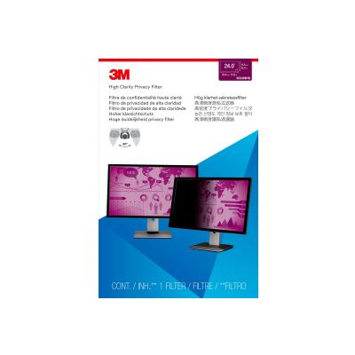 "3M High Clarity Privacy Filter for 24"" Widescreen Monitor (16:10) - display privacy filter - 24"" wide  for 24.0 Widescreen Monitor 1 6:10"