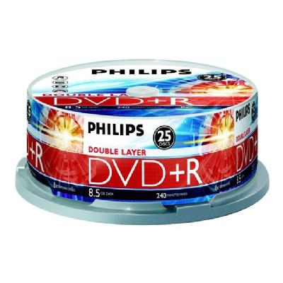 Philips DR8S8B25F - DVD+R DL x 25 - 8.5 GB - storage media (Canada, United States)  SUPL