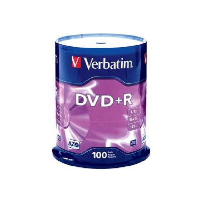 Verbatim - DVD+R x 100 - 4.7 GB - storage media 4.7GB
