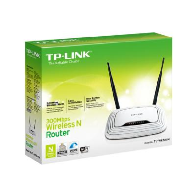 TP-LINK TL-WR841N 300Mbps Wireless N Router - wireless router - 802.11b/g/n (draft 2.0) - desktop  WRLS