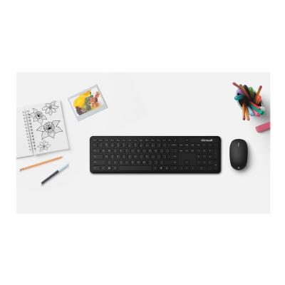 Microsoft Bluetooth Desktop for Business - keyboard and mouse set - QWERTY - English - matte black SNSS