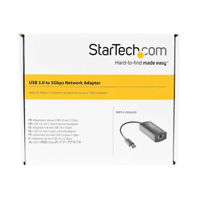 StarTech.com 5GbE USB A to Ethernet Adapter - NBASE-T NIC - USB 3.0 Type A 2.5 GbE /5 GbE Multi Speed Gigabit Network USB 3.1 to RJ45/LAN - network adapter - USB-C 3.1 Gen 1 - 5GBase-T x 1 + USB 3.0  LINUX