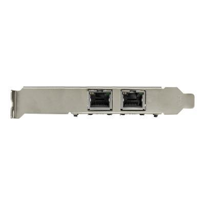 StarTech.com Dual Port 10G PCIe Network Adapter Card, Tehuti TN4010 10GBASE-T & NBASE-T PCI Express Network Interface Adapter 10/5/2.5/1GbE Multi Gigabit Ethernet 5 Speed NIC LAN Card - Network Adapter Card (ST10GSPEXNDP) - network adapter - PCIe 2.0 x8 - 10Gb Ethernet x 2  CTLR