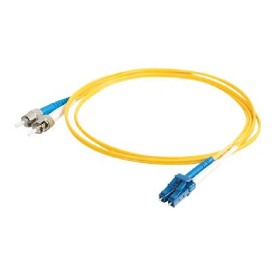 C2G 8m LC-ST 9/125 Duplex Single Mode OS2 Fiber Cable - Plenum CMP-Rated - Yellow - 26ft - patch cable - 8 m - yellow N FBR-YW