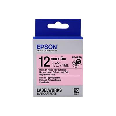 Epson LabelWorks LK-4PBQ - iron-on tape - 1 roll(s) - Roll (1.2 cm x 5 m) 12mm