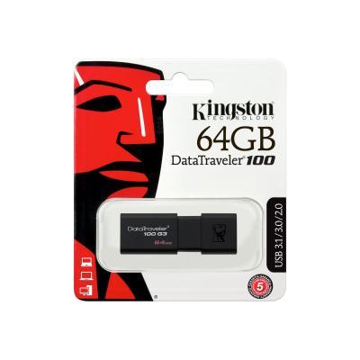 Kingston DataTraveler 100 G3 - USB flash drive - 64 GB (Canada)
