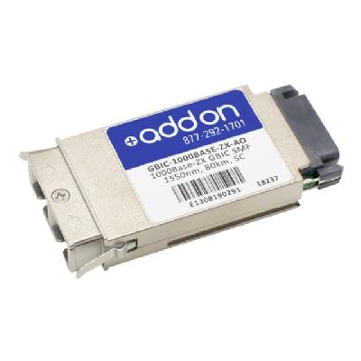AddOn MSA Compliant 1000Base-ZX GBIC Transceiver - GBIC transceiver module - Gigabit Ethernet  PERP