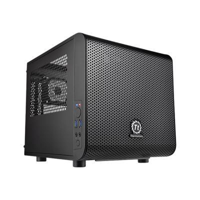 Thermaltake Core V1 - tower - mini ITX ndow Front USB 3.0 x 2 HD Audi o x 1 Supports Mini-