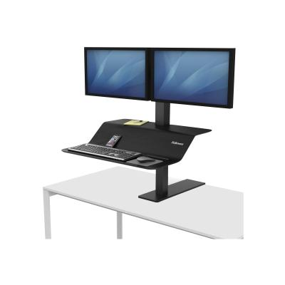 Fellowes Lotus VE Sit-Stand Workstation - desk mount DACCS