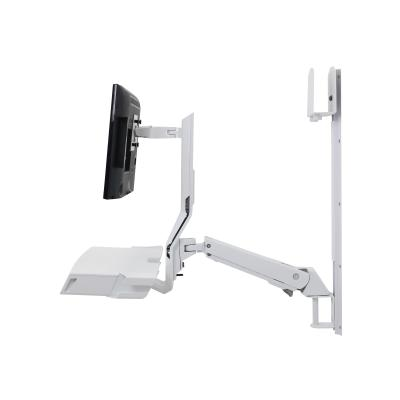 Ergotron SV Combo System with Worksurface & Pan, Small CPU Holder - mounting kit - for LCD display / keyboard / mouse / barcode scanner / CPU (Lift and Pivot) DER INC PAN FEATURE