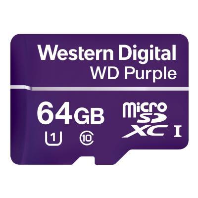 WD Purple WDD064G1P0A - flash memory card - 64 GB - microSDXC  FLSH