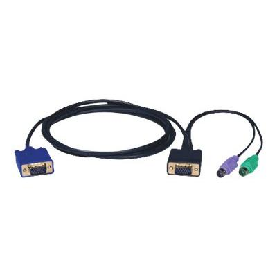 Tripp Lite 15ft PS/2 Cable Kit for B004-008 KVM Switch 3-in-1 Kit 15' - keyboard / video / mouse (KVM) cable - 4.6 m 4-008 KVM