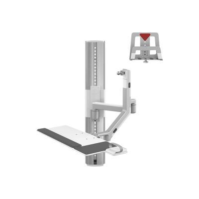 Humanscale ViewPoint Technology Wall Station V/Flex - kit de montage  et un 12po directement bras -  étendre 41in de mu