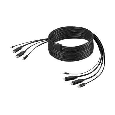 Belkin Secure KVM Cable Kit - video / USB / audio cable - 3.04 m BLE  10FT