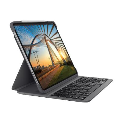 Logitech Slim Folio Pro Keyboard Case for iPad Pro 11-inch (1st and 2nd gen) - keyboard and folio case - graphite  CASE