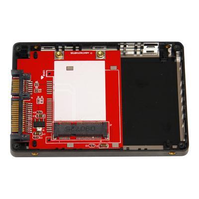 StarTech.com 2.5in SATA to Mini SATA SSD Adapter Enclosure - Mini PCIe ssd Adapter - SATA to mSATA - Mini PCIe SATA (SAT2MSAT25) - storage enclosure - SATA DPT