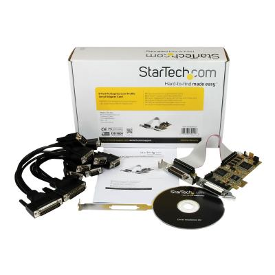 StarTech.com Replaced by PEX8S1050LP - 8 Port PCI Express Low Profile RS-232 Serial Adapter Card (PEX8S950LP) - serial adapter - PCIe - 8 ports our computer via a single low profile PCI Express