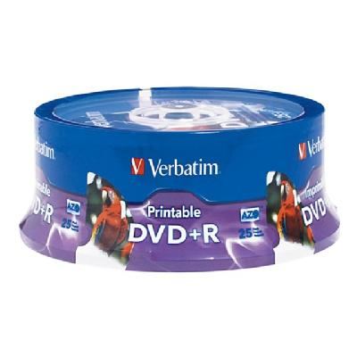 Verbatim - DVD+R x 25 - 4.7 GB - storage media ABLE WHT S