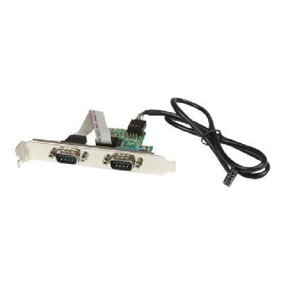 StarTech.com 24in Internal USB Motherboard Header to 2 Port Serial RS232 Adapter - serial adapter any system with an available U SB motherboard heade