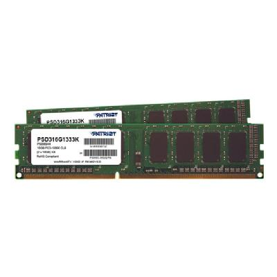 Patriot Signature Line - DDR3 - 16 GB : 2 x 8 GB - DIMM 240-pin