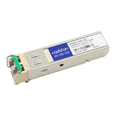 AddOn Extreme MGBIC-LC07 Compatible SFP Transceiver - GBIC transceiver module - Gigabit Ethernet patible TAA Compliant 1000Base -ZX SFP Transceiver