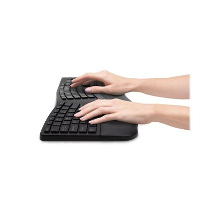 Kensington Pro Fit Ergo Wireless Keyboard and Mouse - keyboard and mouse set - US - black COMBO - BLACK BLUETOOTH - USB WIRELESS