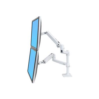 Ergotron LX Dual Stacking Arm - mounting kit - for 2 LCD displays