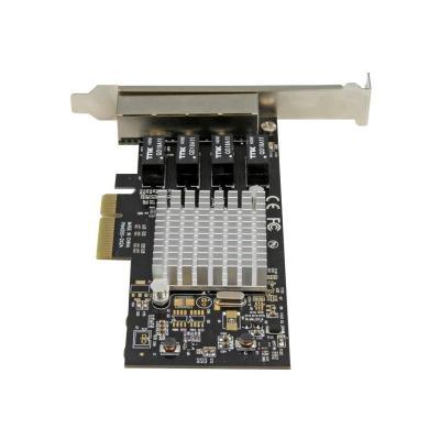 StarTech.com 4 Port PCIe Network Card - RJ45 Port - Intel i350 Chipset - Ethernet Server / Desktop Network Card - Dual Gigabit NIC Card (ST4000SPEXI) - network adapter - PCIe x4