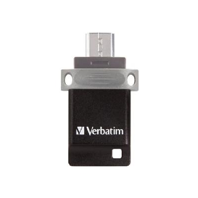 Verbatim Store 'n' Go Dual USB Flash Drive for OTG Devices - USB flash drive - 32 GB MICROUSB/USB TYPEA 2.0 CONNECT DUAL USB FOR OTG