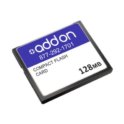 AddOn 128MB Cisco Compatible Compact Flash - flash memory card - 128 MB - CompactFlash atible 128MB Flash Upgrade