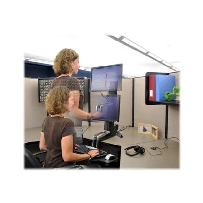 Ergotron WorkFit-S Single HD Sit-Stand Workstation - pied CD HD  Height-adjustment colum n  desk clamp  LCD p