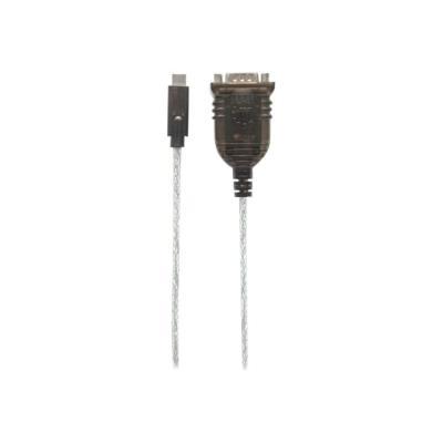 Manhattan USB-C to Serial Converter, USB-C to Serial/RS232/COM/DB9 Port, Prolific PL-2303RA Chip, Cable 45cm - serial adapter a USB Type-C Port  Prolific PL -2303RA Chip  45 cm