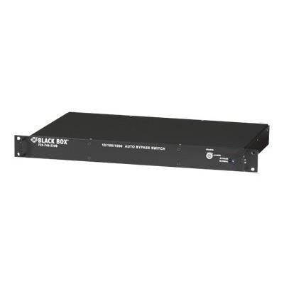 Black Box 10/100/1000 Auto Bypass Switch - switch - 6 ports   1U