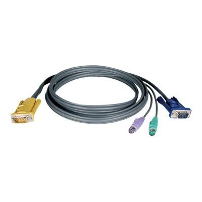 Tripp Lite 25ft PS/2 Cable Kit for KVM Switch 3-in-1 B020 / B022 Series KVMs 25' - keyboard / video / mouse (KVM) cable - 7.6 m  CABL
