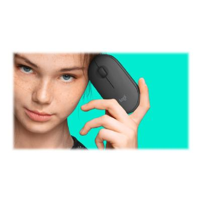 Logitech Slim Wireless Combo MK470 - keyboard and mouse set - graphite ombo -Graphite