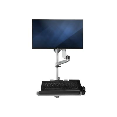 """StarTech.com Wall Mount Workstation, Articulating Standing Desk w/ Ergonomic Height Adjustable Monitor Arm & Padded Keyboard Tray, 34"""" VESA Display, Foldable Wall Mounted Sit Stand Desk - Foldable Standing Desk (WALLSTSI1) - mounting kit - for LCD display / keyboard / mouse - TAA Compliant TION-SINGLE MONITOR"""