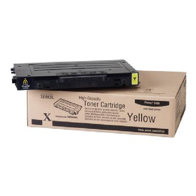 Xerox High-Capacity Phaser 6100 - High Capacity - yellow - original - toner cartridge to 5000 pages - Phaser 6100 ges at 5% coverage