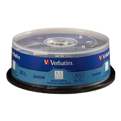 Verbatim M-Disc - DVD-R x 25 - 4.7 GB - storage media nded Surface - 25pk Spindle