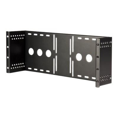 StarTech.com 4U Universal VESA LCD Monitor Mounting Bracket for 19-inch Rack or Cabinet - TAA Compliant - Cold-Pressed Steel Bracket (RKLCDBK) - mounting kit - for LCD display FOR RACKS & CABINETS