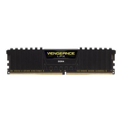 CORSAIR Vengeance LPX - DDR4 - 32 GB: 2 x 16 GB - DIMM 288-pin - unbuffered 4 DRAM 3000MHz C15 Memory Kit - Black (CMK32GX4M2B
