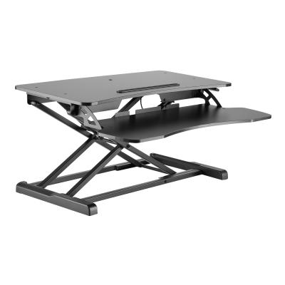 Amer Mounts EZriser30 - standing desk converter - rectangular with contoured side - black Stand Desk Computer Riser. Con vert any desk to a v
