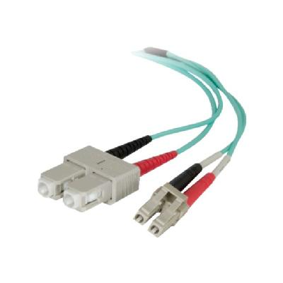 C2G 7m LC-SC 50/125 Duplex Multimode OM4 Fiber Cable - Aqua - 23ft - network cable - 7 m - aqua  CABL