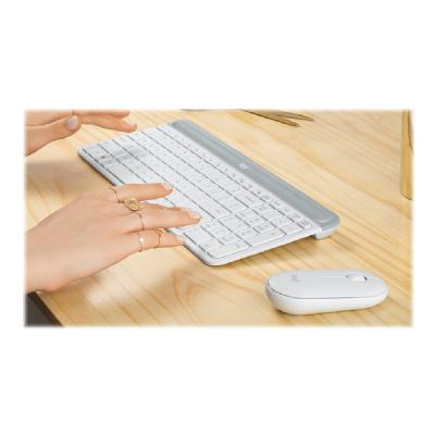 Logitech Slim Wireless Combo MK470 - keyboard and mouse set - off-white eyboard and Mouse Combo -Off-W hite